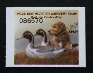 Sale: (il19) 1993 Illinois State Duck Stamp photo