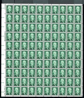 Oddlots: Us Sheet Scott 1278, ,  N H,  Pane Of 100,  1¢ Thomas Jefferson photo