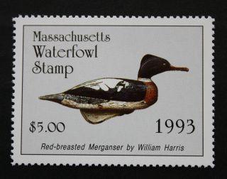 Sale: (ma20) 1993 Massachusetts State Duck Stamp photo