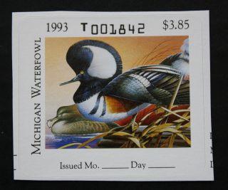 Sale: (mi18) 1993 Michigan State Duck Stamp photo