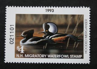 Sale: (nh11) 1993 Hampshire State Duck Stamp photo