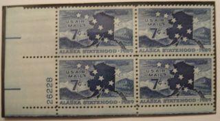 1959 Alaska Statehood,  Nh 7 Cent Airmail photo