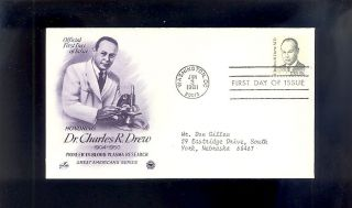 Dr.  Charles Drew 1865 Black Heritage June 3,  1981 Wash.  Dc photo