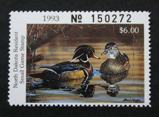 Sale: (nd12) 1993 North Dakota State Duck Stamp photo