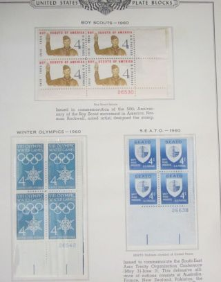 Plate Block Stamp Sheet Boys Scouts,  Olympics,  Seato 1960 photo