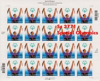 2003 Special Olympics 80c Sc 3771 Full Sheet photo
