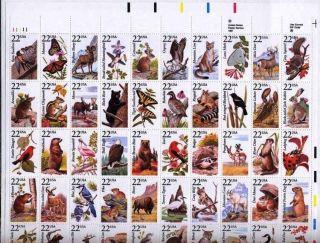 1987 North American Wildlife Sc 2335a - Sheet Of 50 - Cv $50 photo