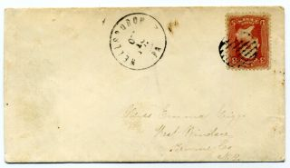 A Cover From Wellesburough,  Pa With Fine Grid Cancel On The Sc 64b,  Rose Pink photo