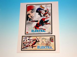Elektra Marvel Comics Usps 1st First Day Of Issue Stamp Matted With Art Fdc photo