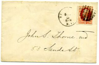 The Scott 178 Vermillion On A Fine Cover And Wonderful Geometric Cancel photo