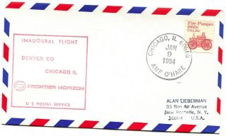 Frontier Horizon First Flight Chicago Illinois - Denver Colorado - 1984 photo