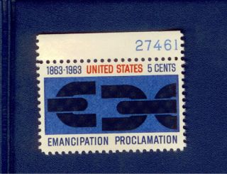 Usa Stamp 1233 5 Cent Emancipation Proclamation Nh 1963 photo