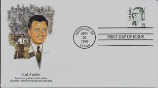 Cal Farley,  Scott No.  2934 Fleetwood Fdc photo