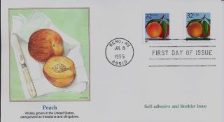 Peach,  Scott No.  2487 & 2494 Fleetwood Fdc photo