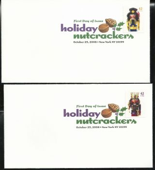 Scott 4360 - 63 First Day Cover 10/23/08 York Single Holiday Nutcrackers photo