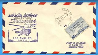 Am84,  84 - 34,  San Pedro,  Cal.  - 1948 Ffc,  L.  A.  Area Helicopter Mail photo