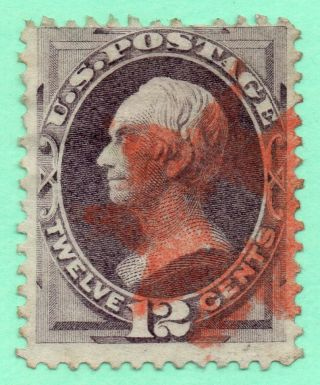 151 Early Us Stamp Fancy Red Cancel photo