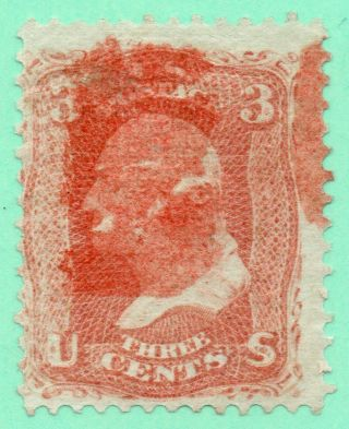 94 F Grill Early Us Stamp Fancy Red Cancel Faults photo