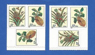 Us 3128 - 3129 = 3128a - 3129a Merian Botanical Never Hinged. photo