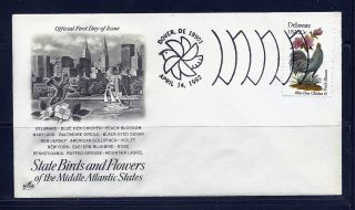 First Day Cover Delaware State Cancel 20c 1960 Artcraft Special Fdc 1982 photo