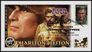 Charlton Heston. . .  Legends Of Hollywood. . .  Julius Caesar Fdc B21 photo