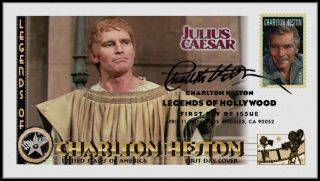 Charlton Heston. . .  Legends Of Hollywood. . .  Julius Caesar Fdc B22 photo
