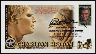 Charlton Heston. . .  Legends Of Hollywood. . .  Antony & Cleopatra Fdc B31 photo
