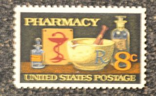 1972 Us 1473 8c Pharmacy Nh Vf photo