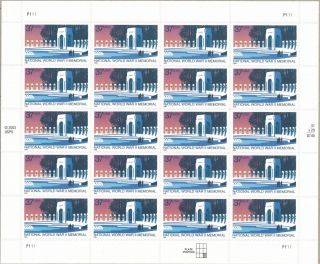 World War Ii Memorial Scott 3862 37 - Ct Us Stamp Sheet Nh @ Face Value photo
