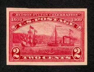 Scott 373 1909 2c Imperf Issue Hinged Hudson - Foulton photo