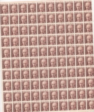 Ernie Pyle 16 Cent Sheet Of 100 Never Hinged Scott 1398 A 818 photo