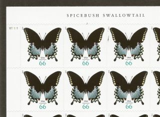 66c Spicebush Swallowtail Butterfly - 2013 Issue - Sheet Of 20 photo