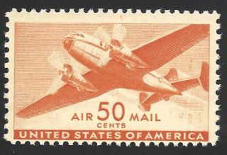 Scott C31,  Nh Vf 50c Transport Plane Scv $11 photo