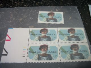 Scott 2024 Plate Block With An Additional 2024 Stamp photo