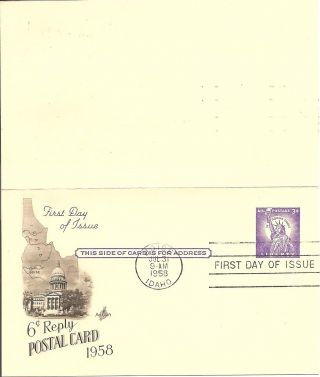 Us Sc Uy17 Statue Of Liberty Postal Card Fdc.  Artcraft Cachet photo