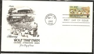 Us Sc 2018 Wolf Trap Farm Park Fdc.  Artmaster Cachet. photo