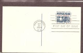 Us Sc Ux51 Social Security.  Postal Card Fdc.  Ready For Cachet photo