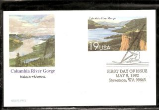 Us Sc Ux164 Columbia River Gorge Fdc.  Fleetwood Cachet. photo