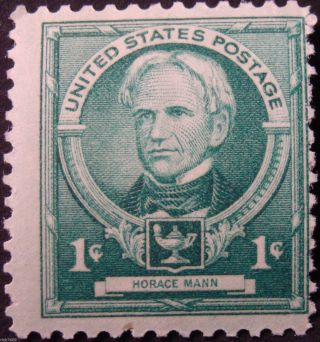 Stamp Us 1c Horace Mann,  (famous Americans Series) Cat.  869 Nh/og photo