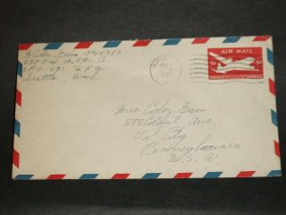 Apo 731 Ladd Field,  Fairbanks,  Alaska 1947 Army Cover 230 Ord Mam Co photo