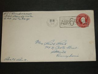 Apo 374 Mirecourt,  France 1945 Censored Wwii Army Cover 593rd Sig Bn Apo 317 photo