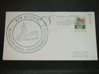 R/v Acona University Of Alaska Naval Cover 1968 Cachet Juneau,  Ak photo