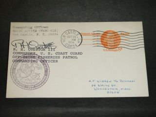 Uscgc Active Wmec - 618 Naval Cover 1974 Signed Fisheries Cachet Castle,  Nh photo