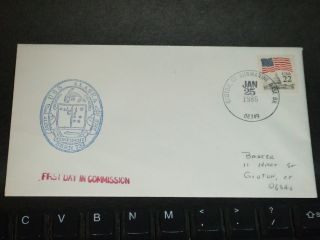 Uss Alaska Ssbn - 732 Naval Cover 1986 Commissioned Fdc Cachet Groton,  Ct photo