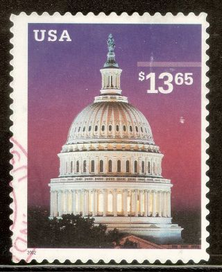 U.  S.  Scott 3648 $13.  65 Capitol Dome F Ng 2002 High Value Express photo