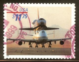 U.  S.  Scott 3262 $11.  75 Piggyback Space Shuttle F Ng High Value Express photo