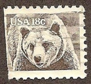 Usa Scott 1884,  Brown Bear,  American Wildlife, ,  1981 photo