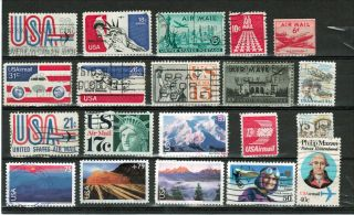 Us (1941 - 2008) Air Mail Issues.  Selection. . photo
