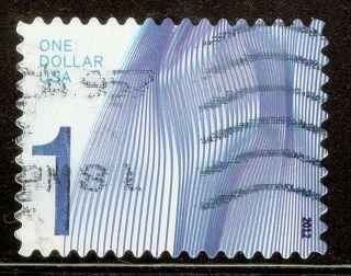 U.  S.  Scott 4717 $1 Waves Of Color F - Vf No Gum (off Paper) 2012 High Value photo