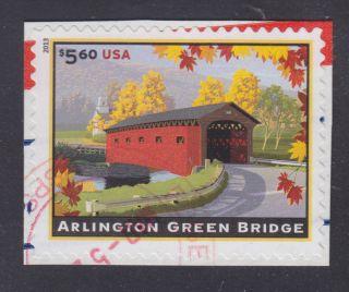 $5.  60 Arlington Green Bridge Priority Mail Stamp photo